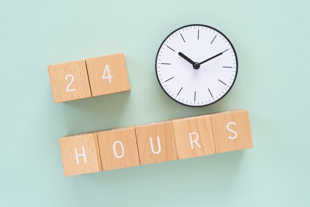 24時間営業のイメージ