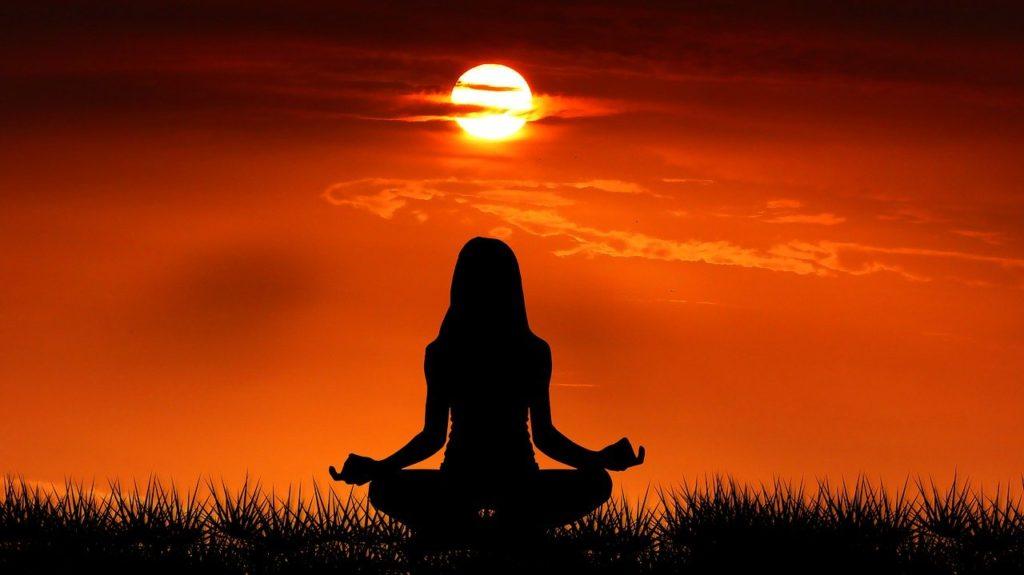 ヨガの瞑想のイメージ